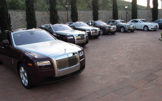 Présentation nord-américaine de la Rolls-Royce Ghost 2010 en Californie