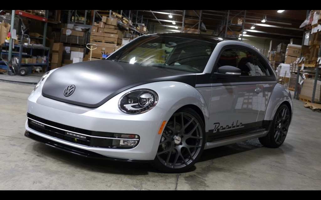 Specially Designed Volkswagen Beetle And Golf R At The
