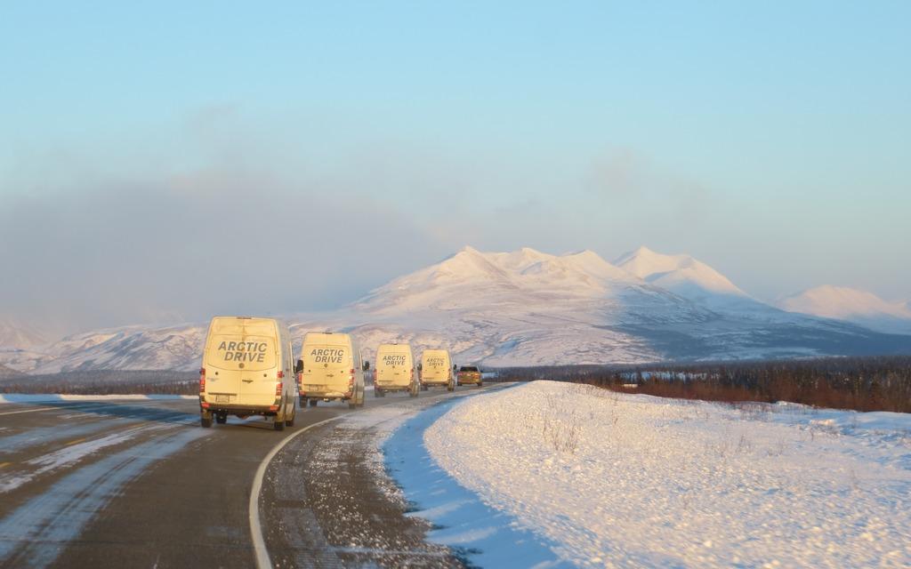 Safe transit across the Alaskan landscape is very much a team effort.