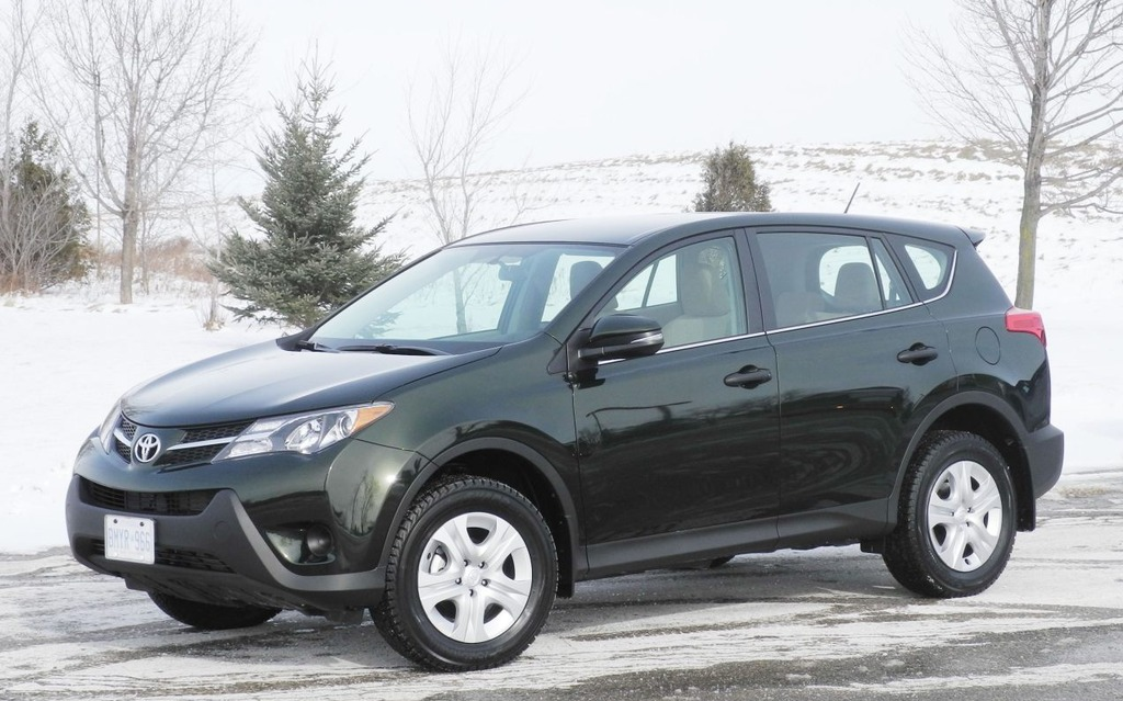 The new RAV4's exterior is decidedly sportier than the previous model.