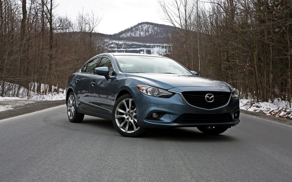 La Mazda6 affiche un air agressif à souhait