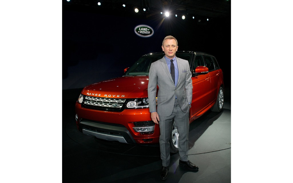 Daniel Craig au Salon de l'auto de New York