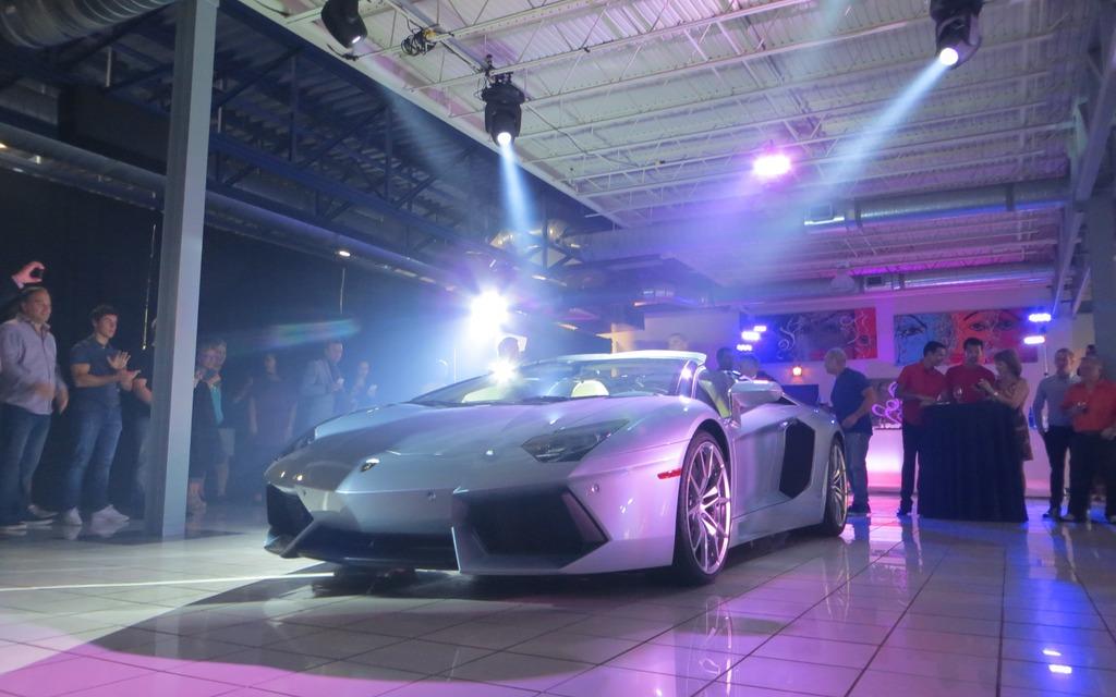 Dévoilement du Roadster Lamborghini Aventador LP700-4