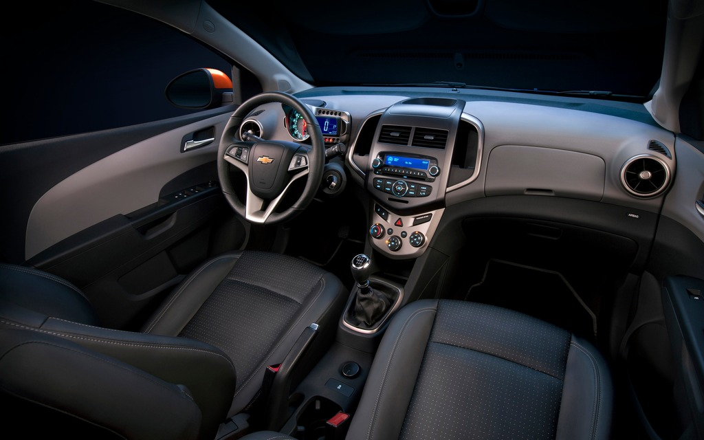 2014 Chevrolet Sonic Chevy S Warmed Up Hatch 3 4
