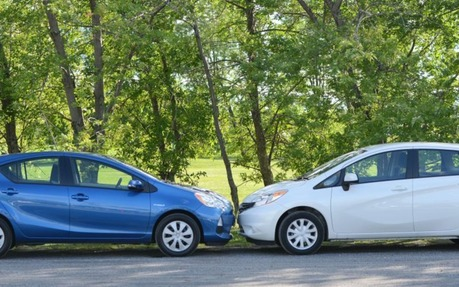 Prius Vs Prius C >> 2014 Toyota Prius C Vs Nissan Versa Pitting Hybrid Against