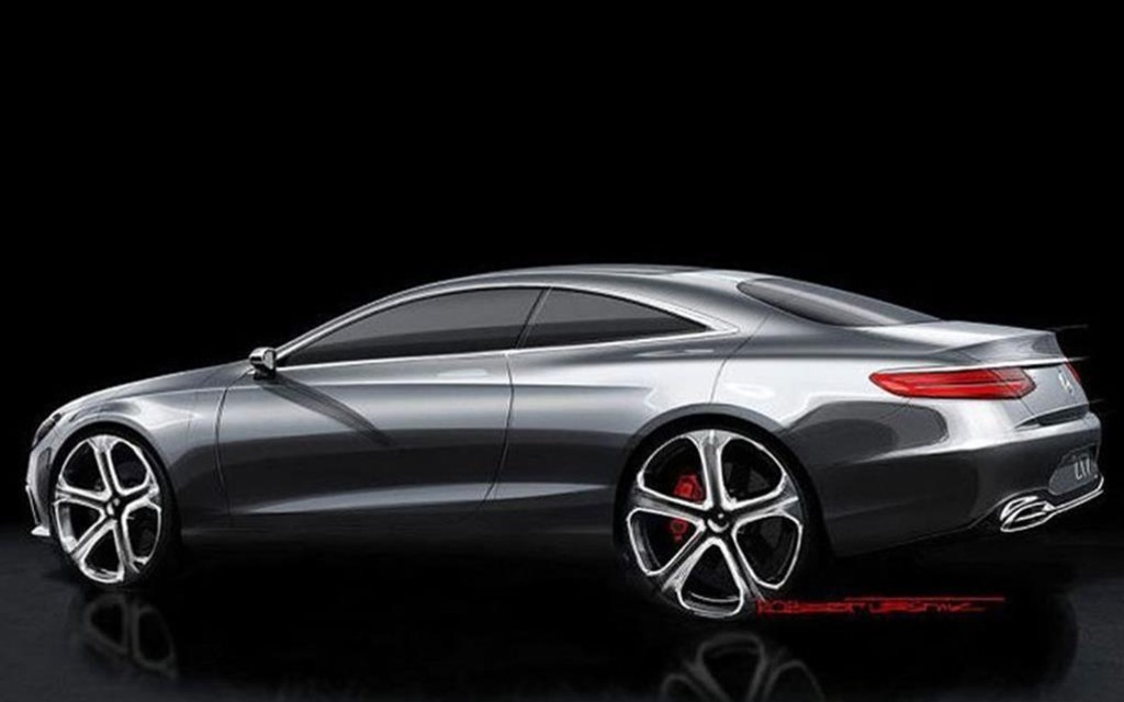 mercedes sclass coupe sketches confirmed as real 24