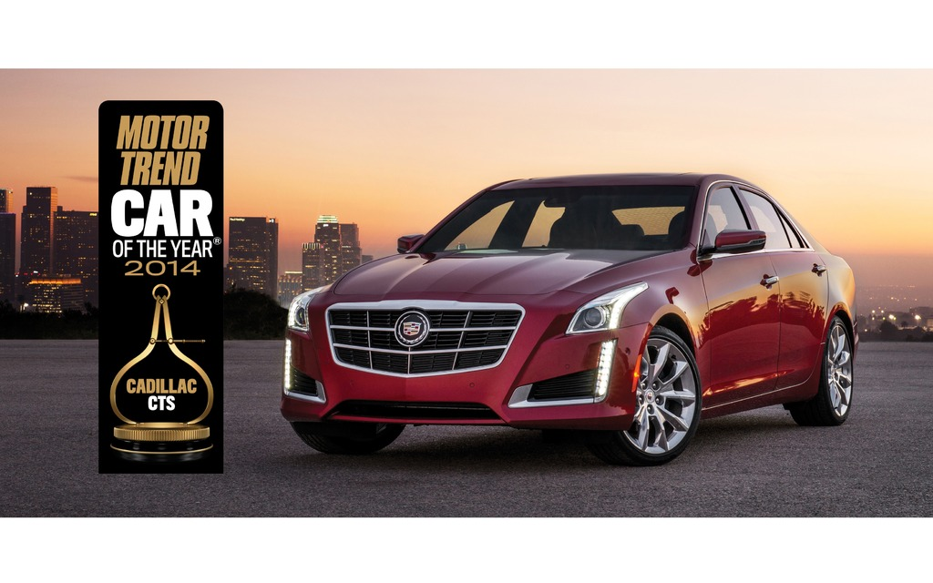 cadillac cts 2014 lue voiture de l 39 ann e par motor trend guide auto. Black Bedroom Furniture Sets. Home Design Ideas