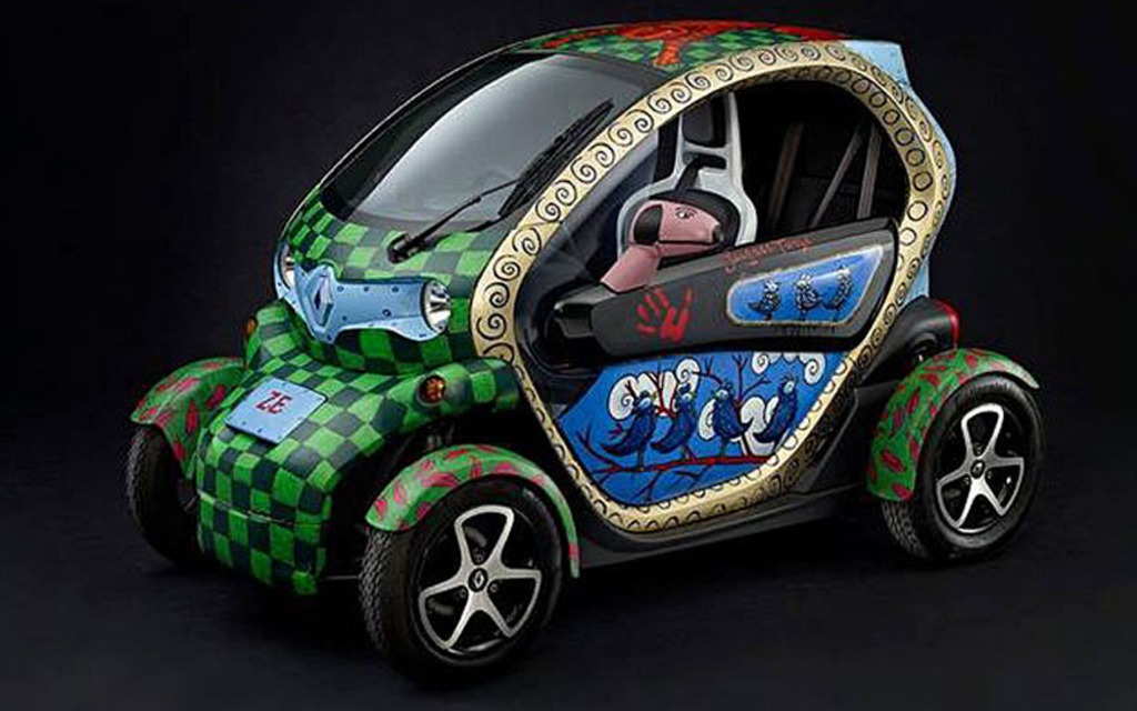 renault twizy art car mise aux ench res guide auto. Black Bedroom Furniture Sets. Home Design Ideas