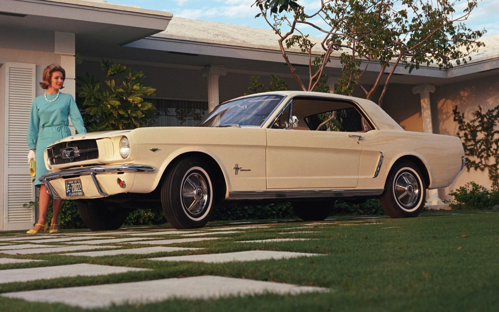 10- 1964 Ford Mustang: The ultimate American muscle car.