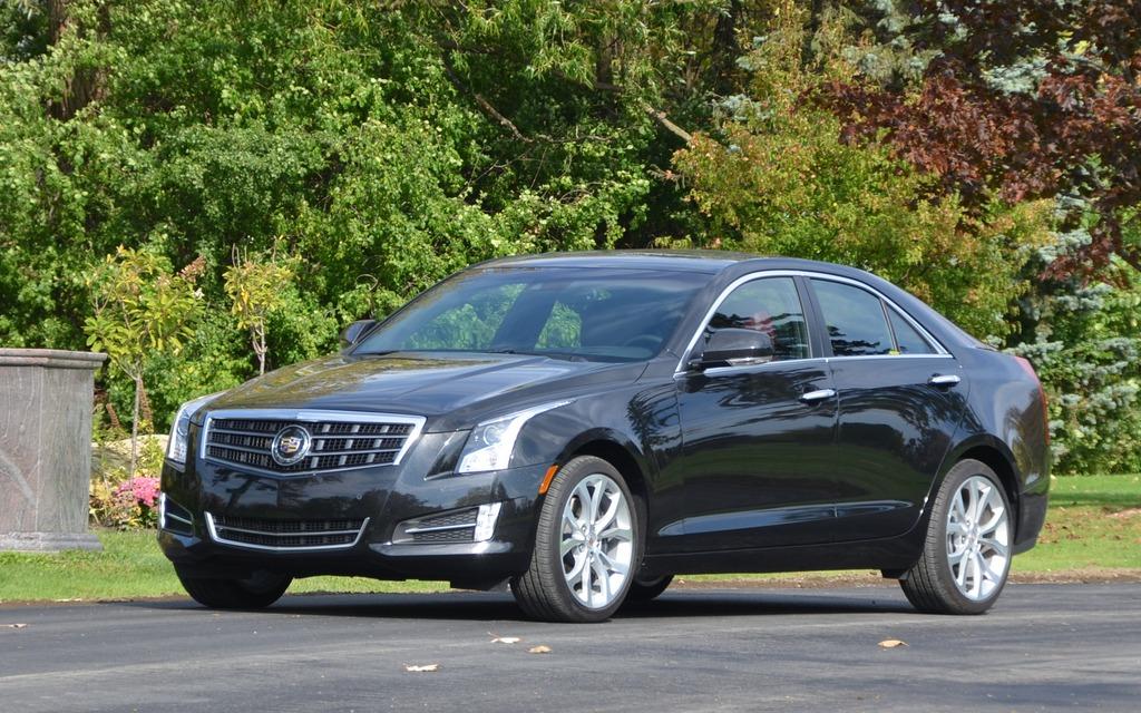 """""""Notre"""" Cadillac ATS roulait sur des roues de 18 pouces optionnelles."""