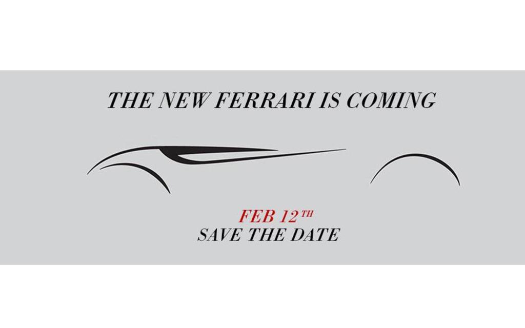 Esquisse d'une nouvelle Ferrari
