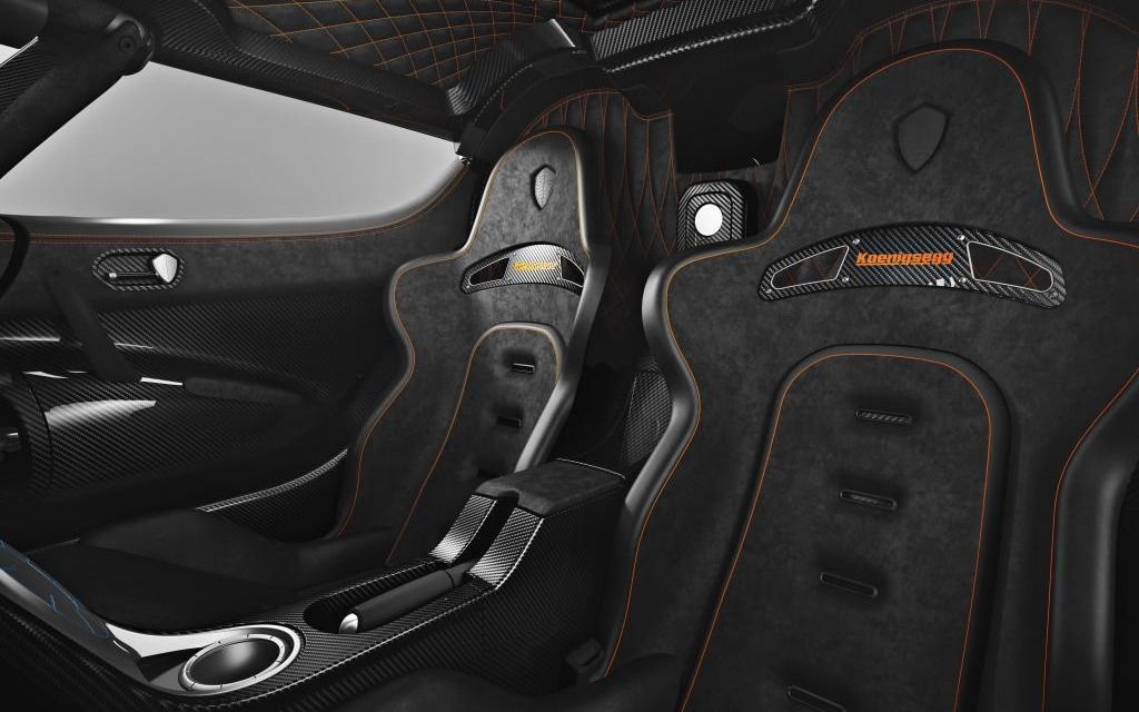 Koenigsegg One:1, interior view