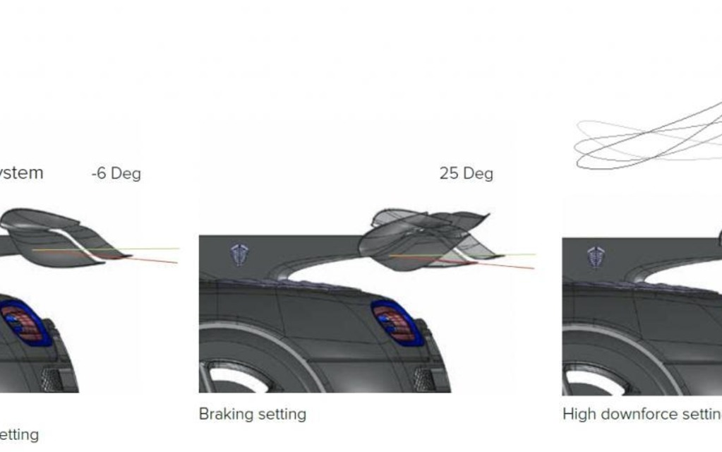 Koenigsegg One:1 , mechanics of the rear wing