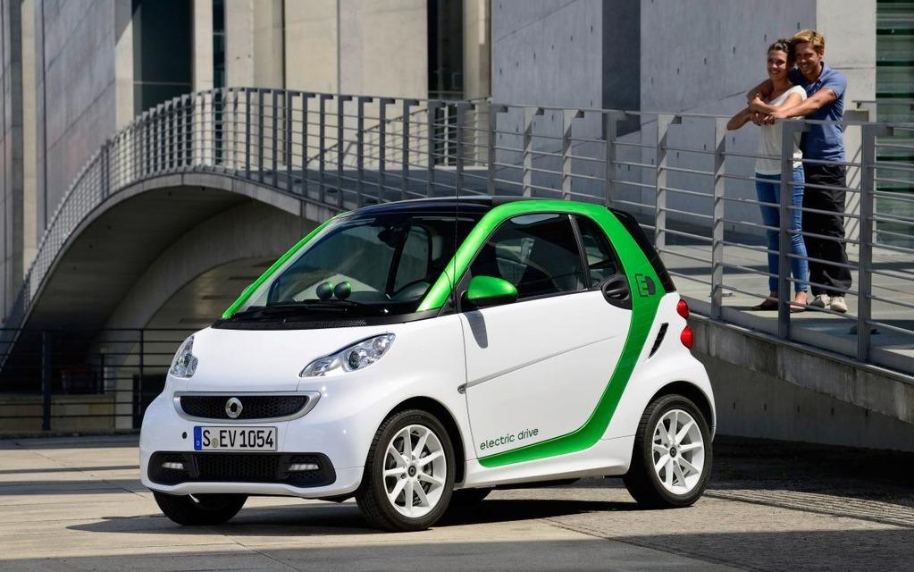 La smart electric drive en été: un choix intéressant.