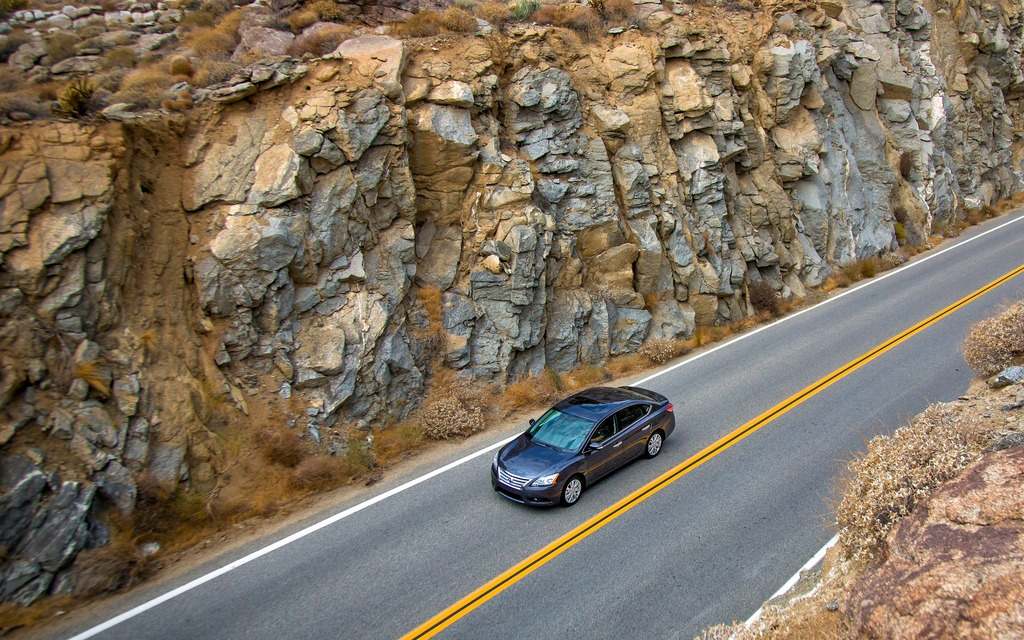 La Sentra est une routière plus confortable qu'autre chose.