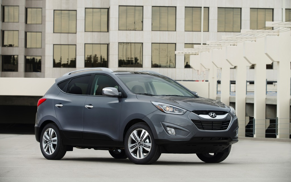 There's nothing retro about the Tucson other than its size.