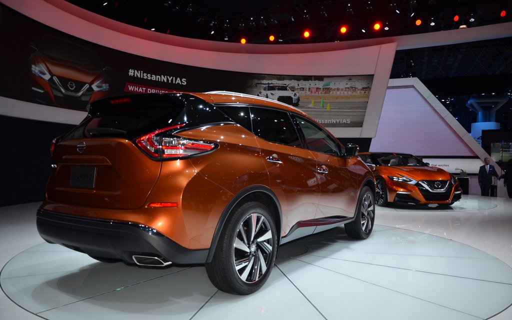 The 2015 Nissan Murano at the New York Auto Show