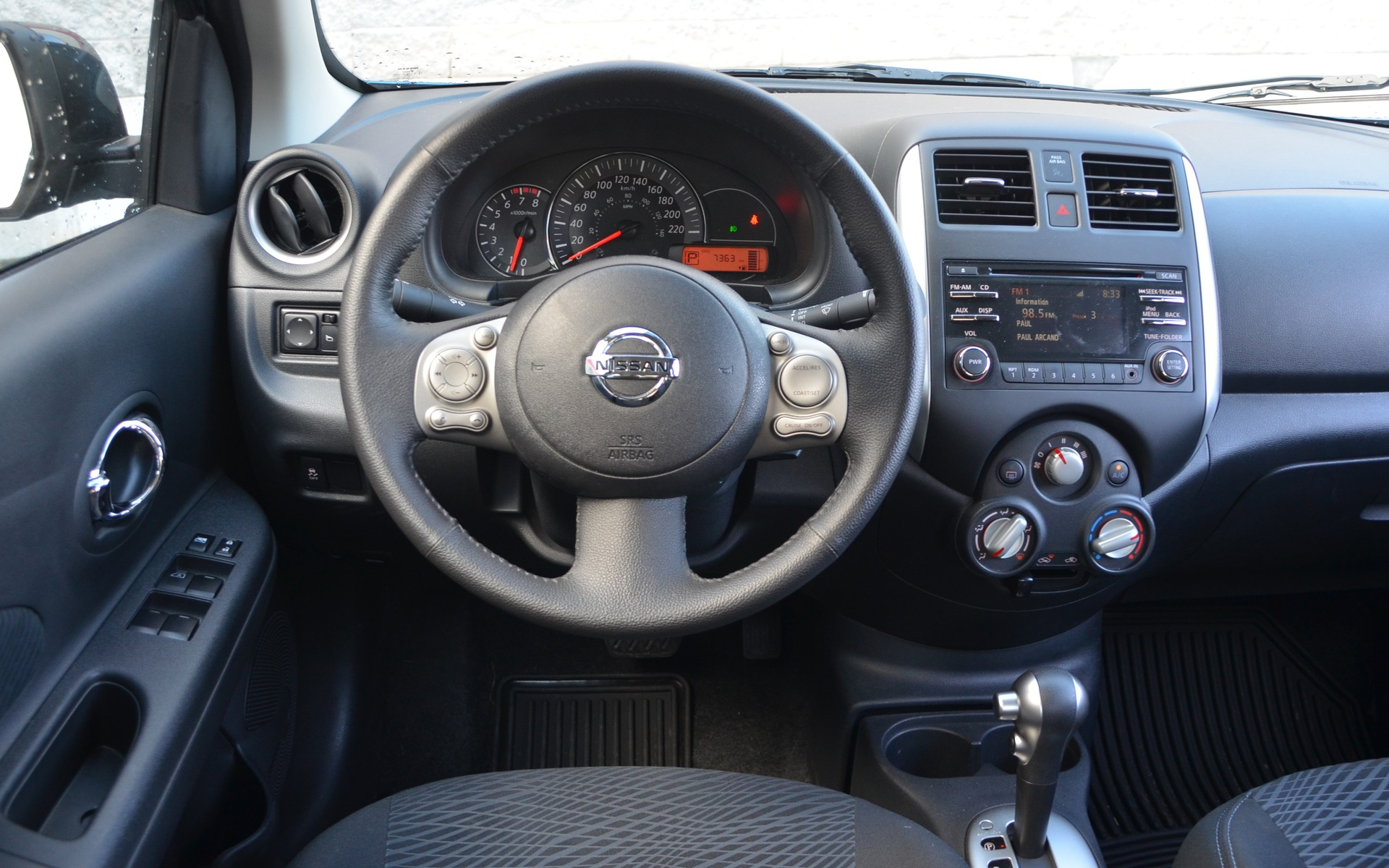 The dashboard is more ergonomical than it is nice.