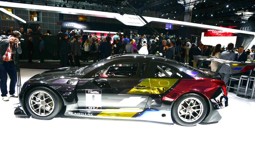 Rutilante coupé ATS V GT3 qui fera ses débuts en piste en 2015.