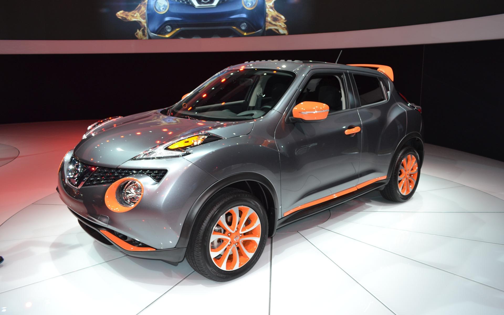 La Nissan Juke personalisée. Cela accentue la laideur de la silhouette.