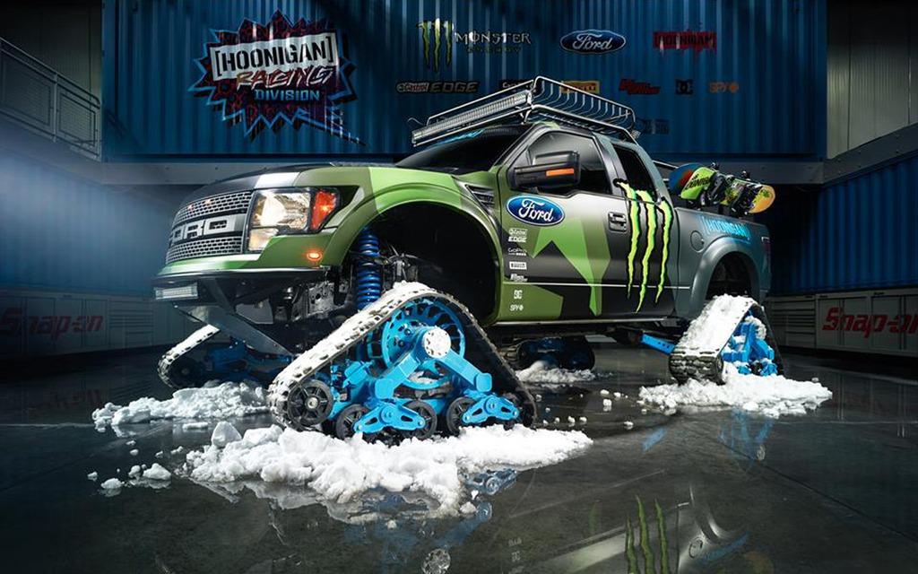 Ford RaptorTrax de Ken Block. Amenez-en de la neige!