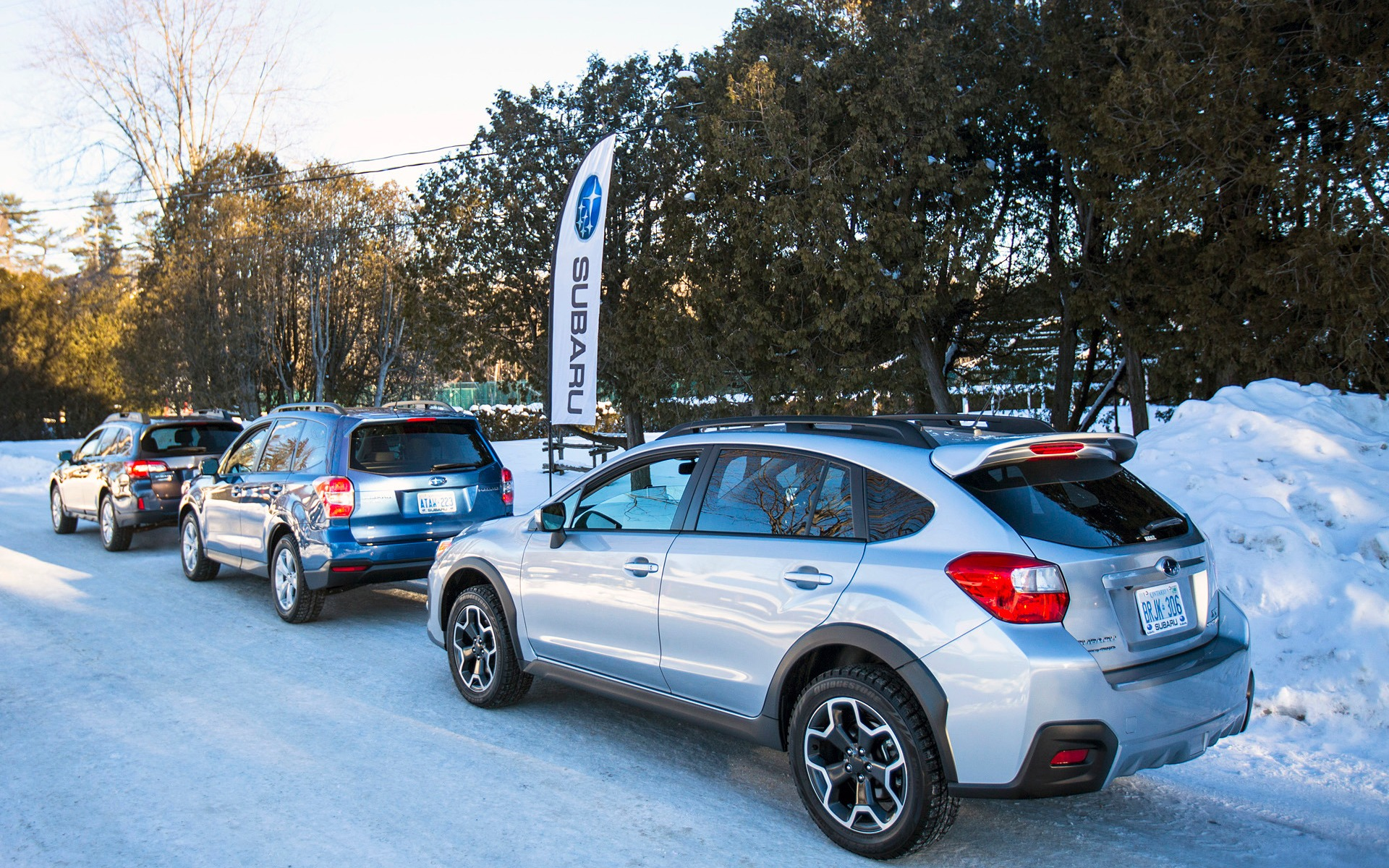 Winter Playtime With Three All Purpose Subarus 10 22