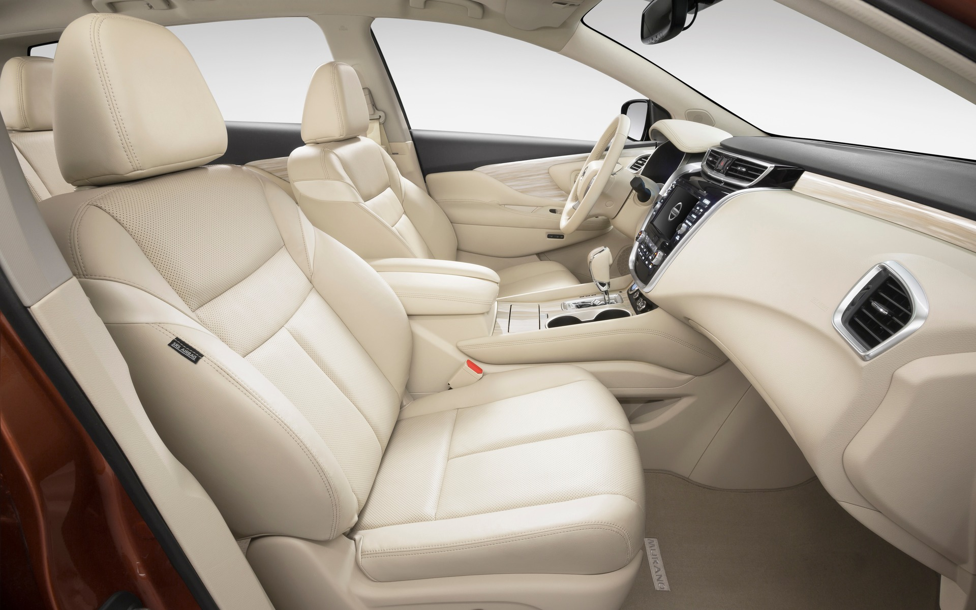 The leather used on the Nissan's seats was soft to the touch.
