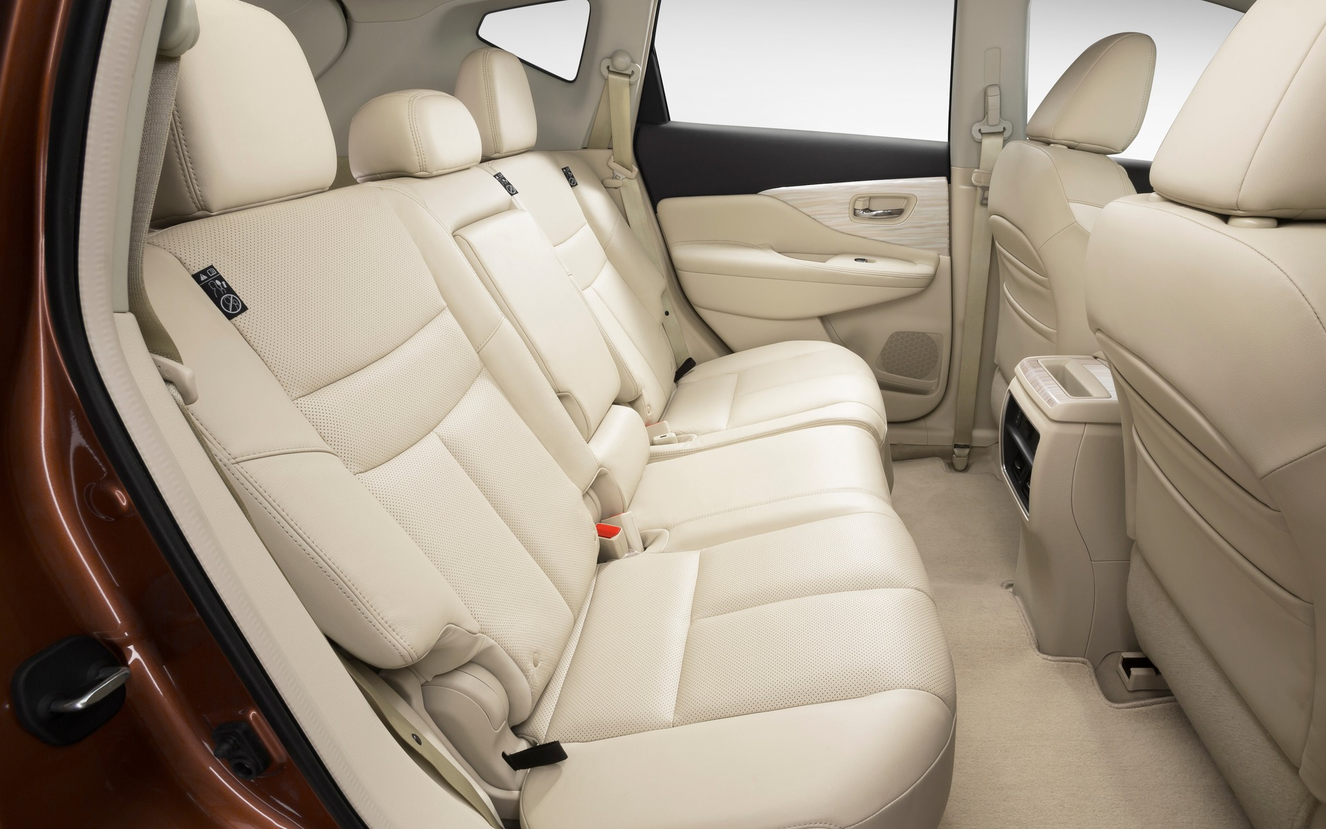 Passengers enjoy excellent room even in the second row of the SUV.