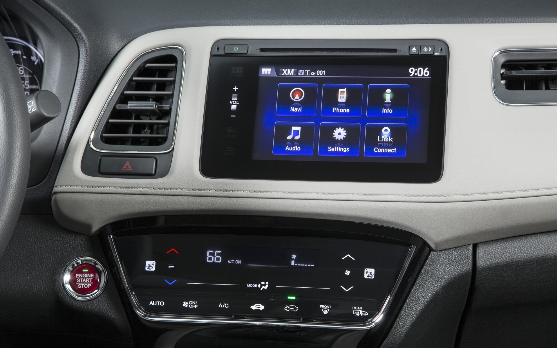 Honda HR-V 2016 - Écran tactile multifonctions en couleur.