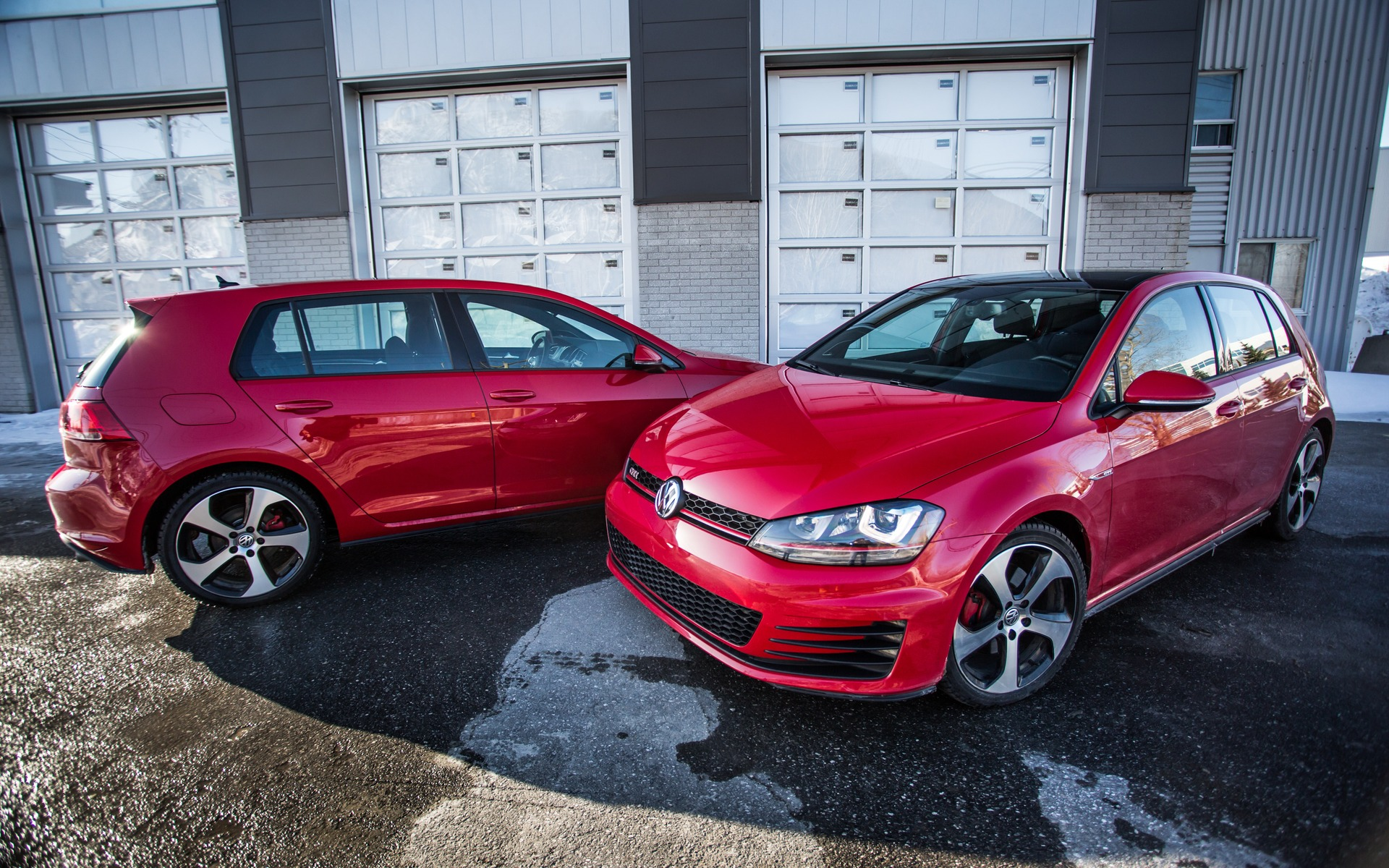 These two Volkswagen GTIs are identical, save for one small detail.