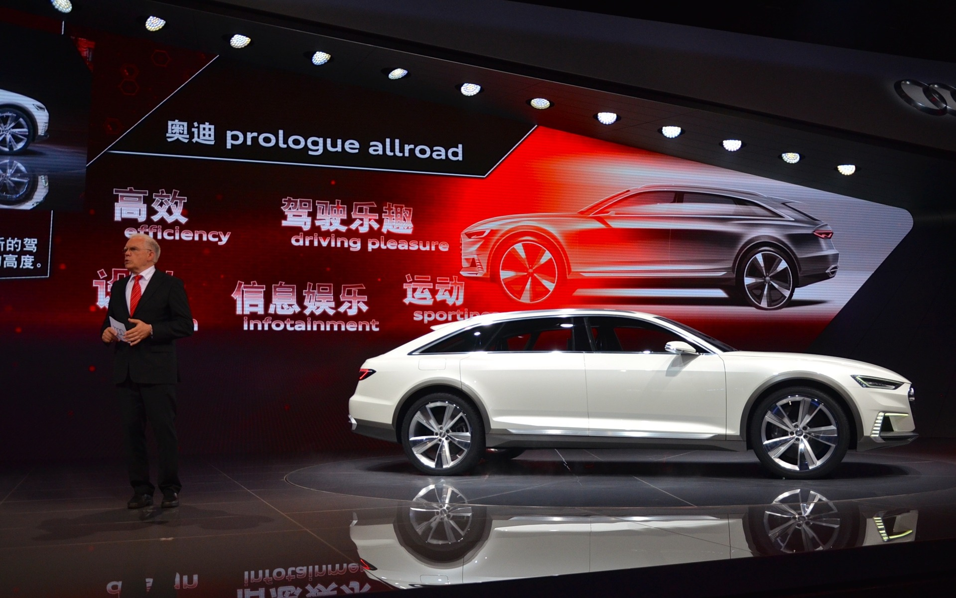 Premi re mondiale du audi prologue allroad concept au salon de shanghai guide auto - Concept salon de the ...
