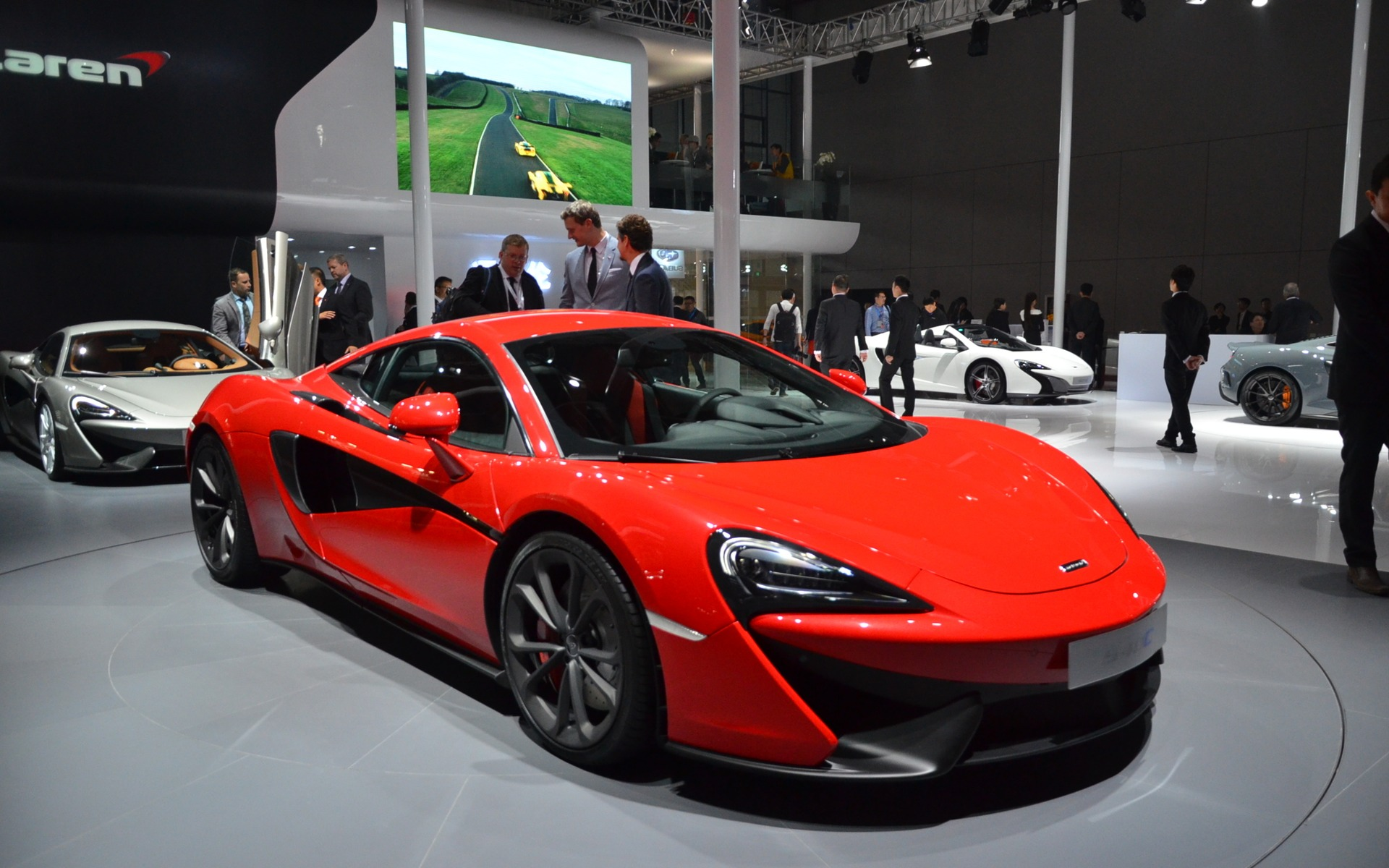 the mclaren 540c shows its nose in shanghai - the car guide