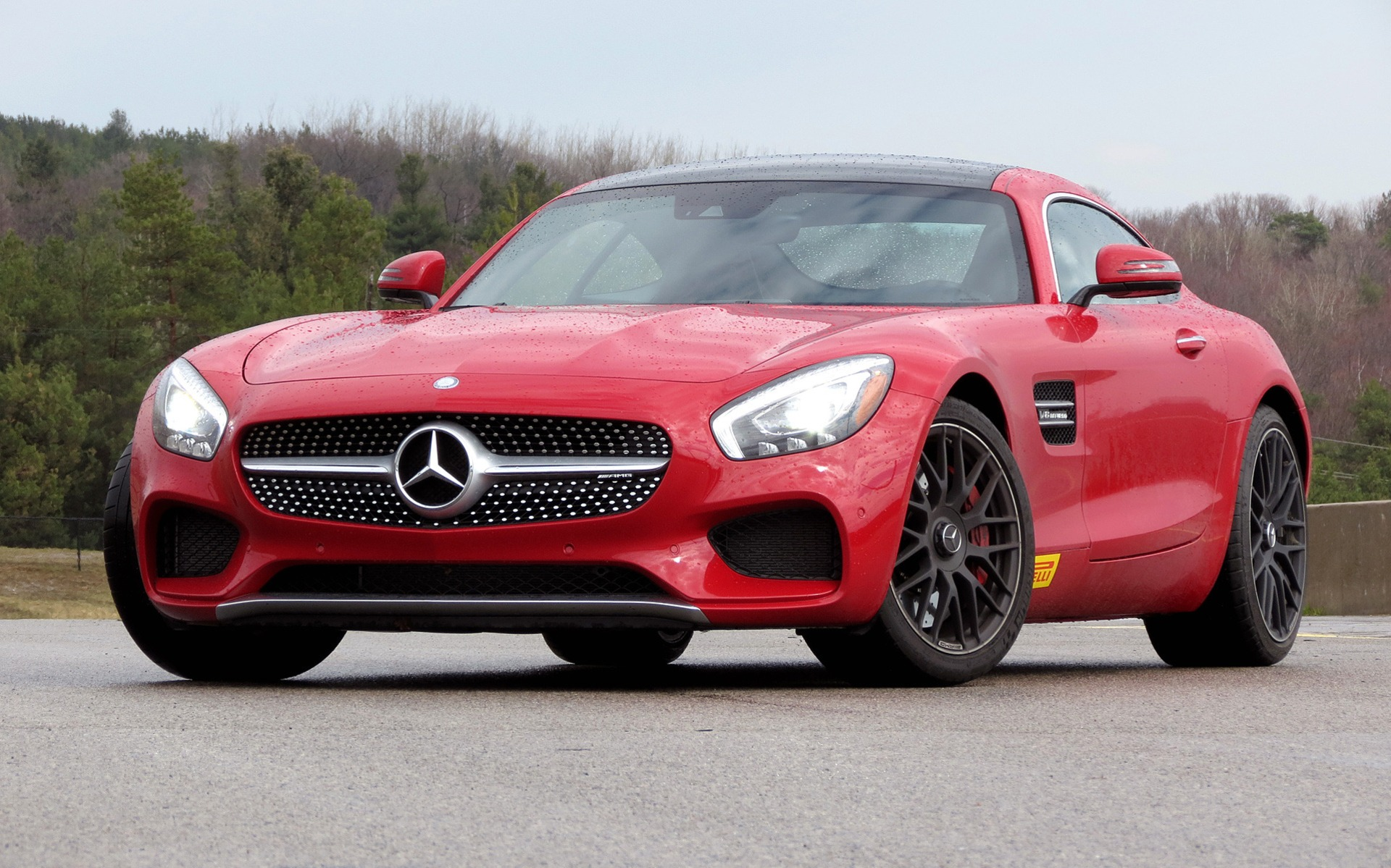 The 2016 Mercedes-AMG at the Canadian Tire Motorsport Park.