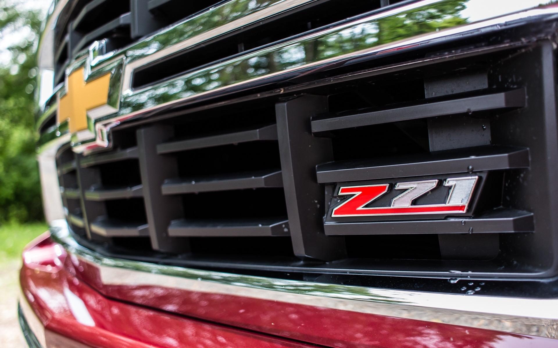Jolie badge Z71 placé à l'avant.