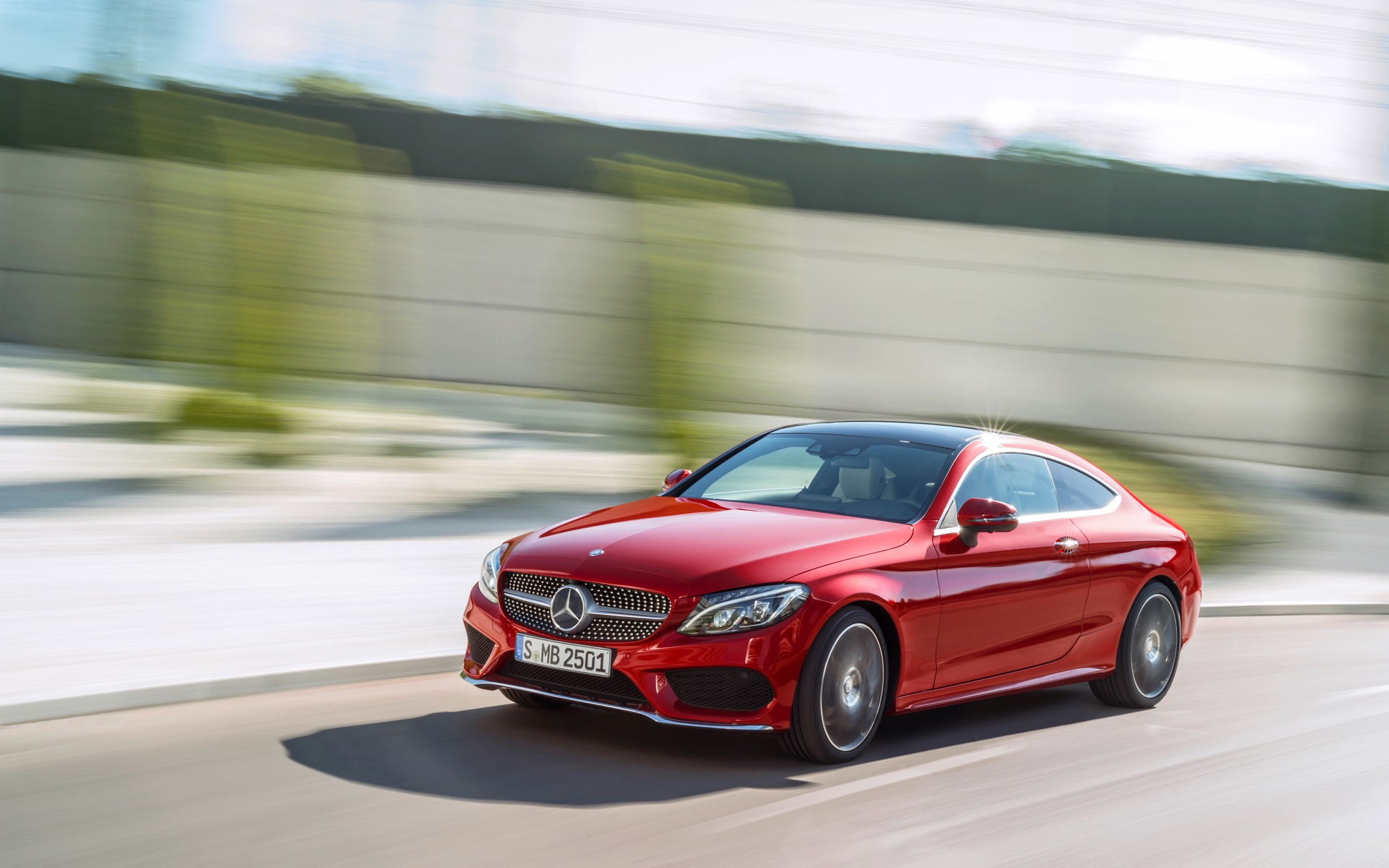 Mercedes Amg Coupe 2017 >> Mercedes-Benz Reveals The New C-Class Coupe - 1/4