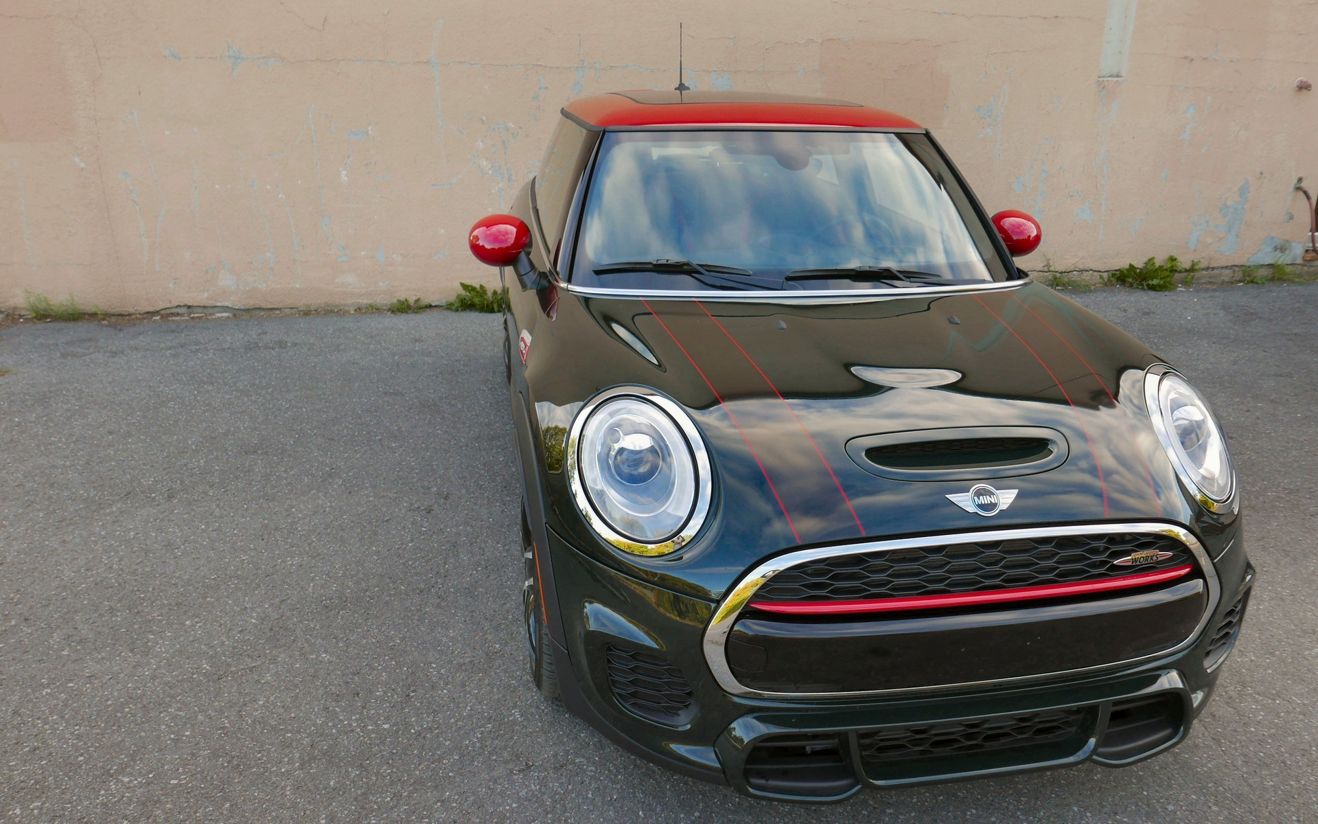 The car's wider track further accentuates the Cooper's bulldog stance.
