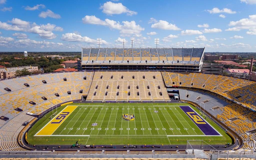 Le stade de football de l'équipe de footbal LSU: 103 000 places