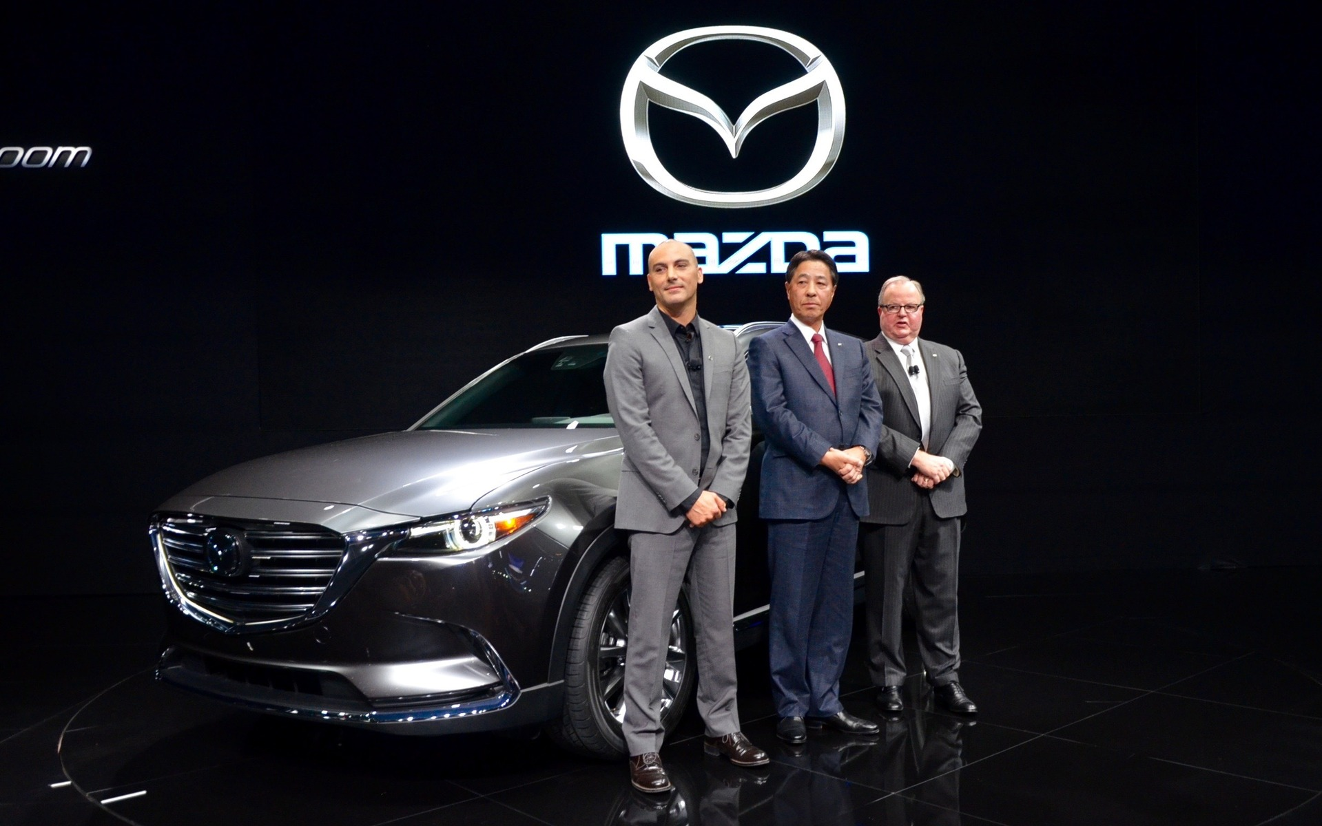 The 2016 Mazda CX-9's launch at the 2015 Los Angeles Auto Show.