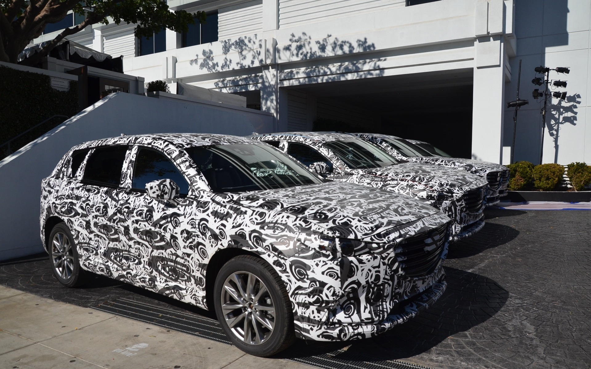 2016 Mazda CX-9 - camouflaged prototypes in Los Angeles
