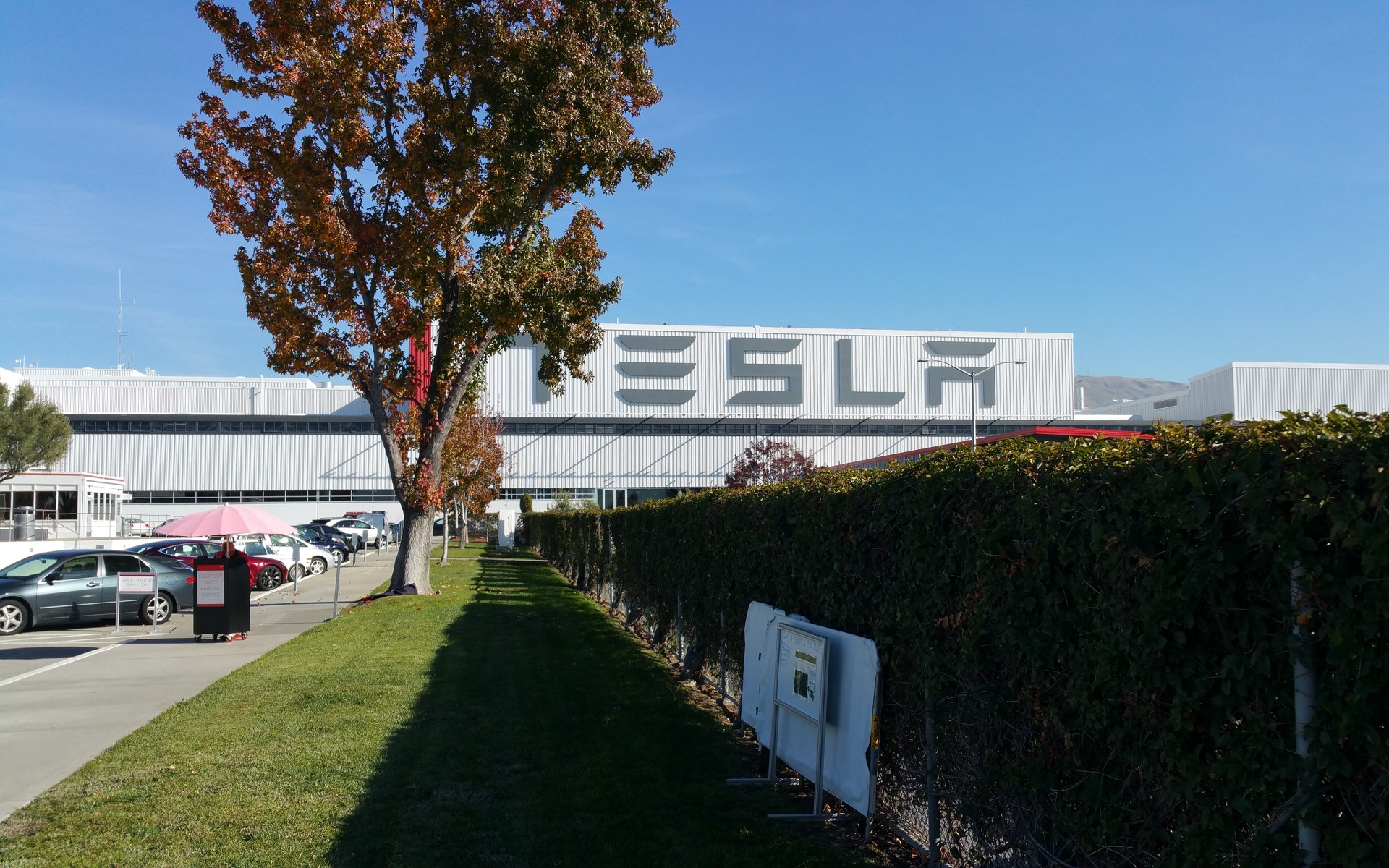 Les quartiers généraux de Tesla à Freemont en Californie