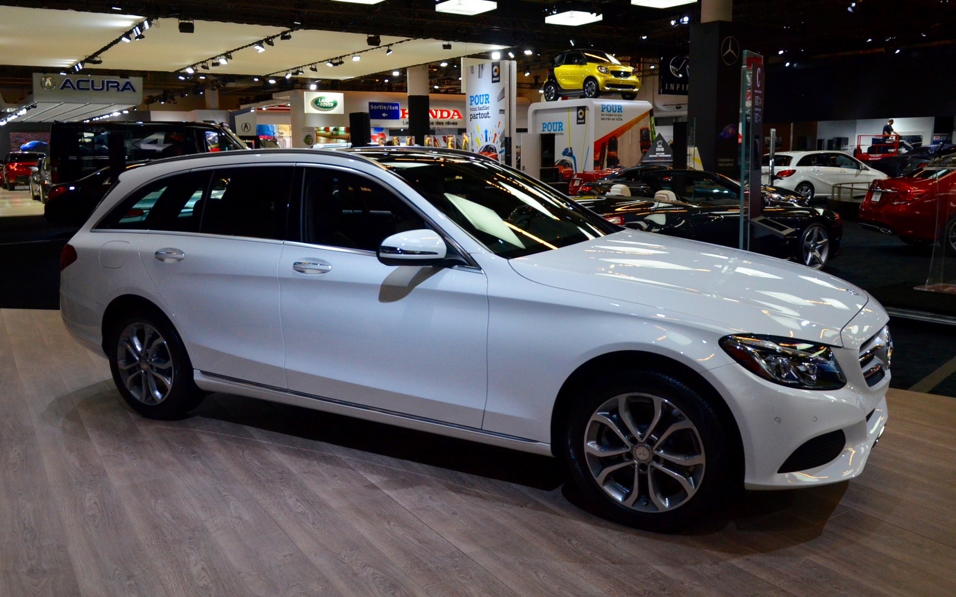 mercedes benz shows its c class wagon in montreal the