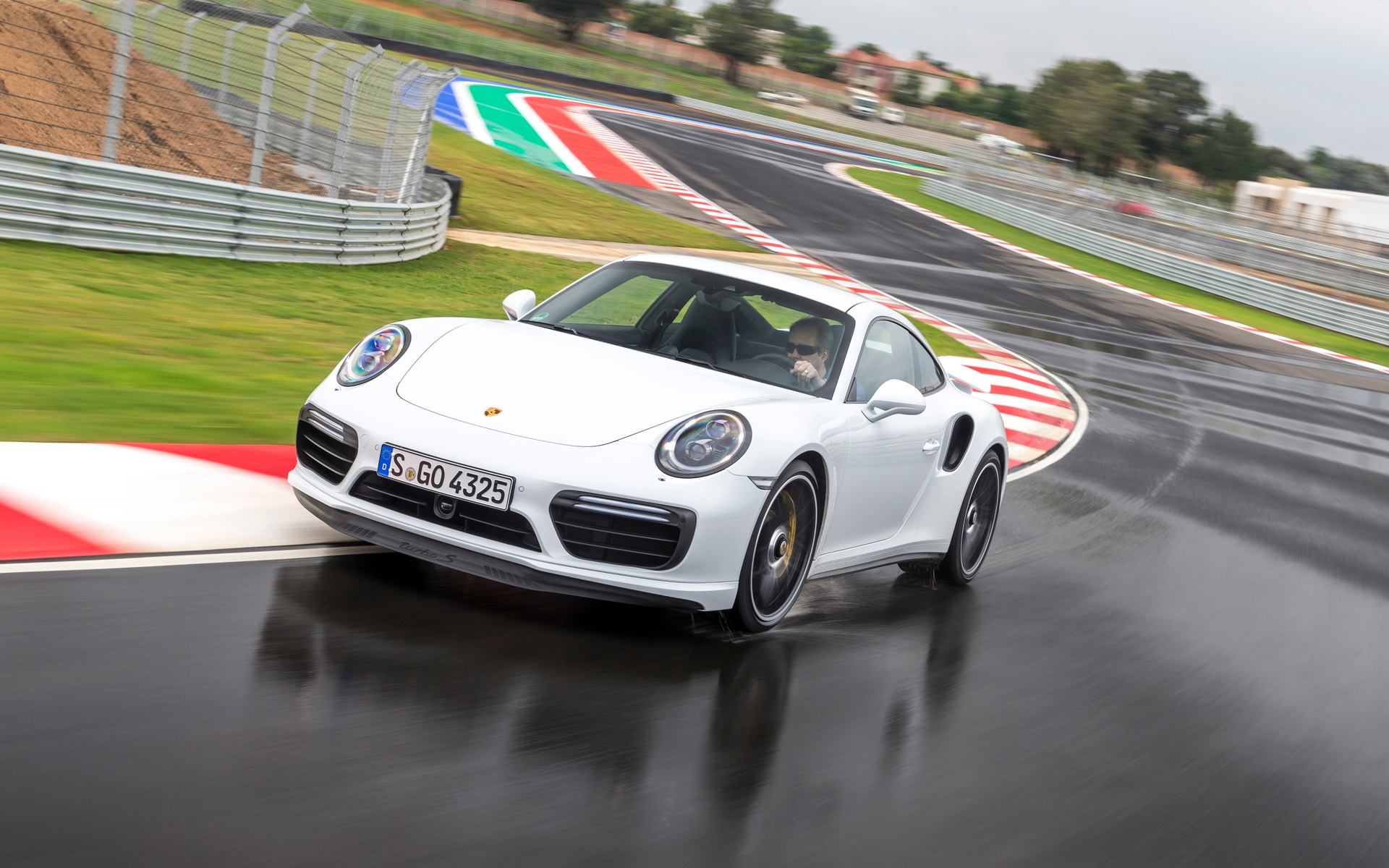 2017 Porsche 911 Turbo at Kyalami Racing Circuit in South Africa