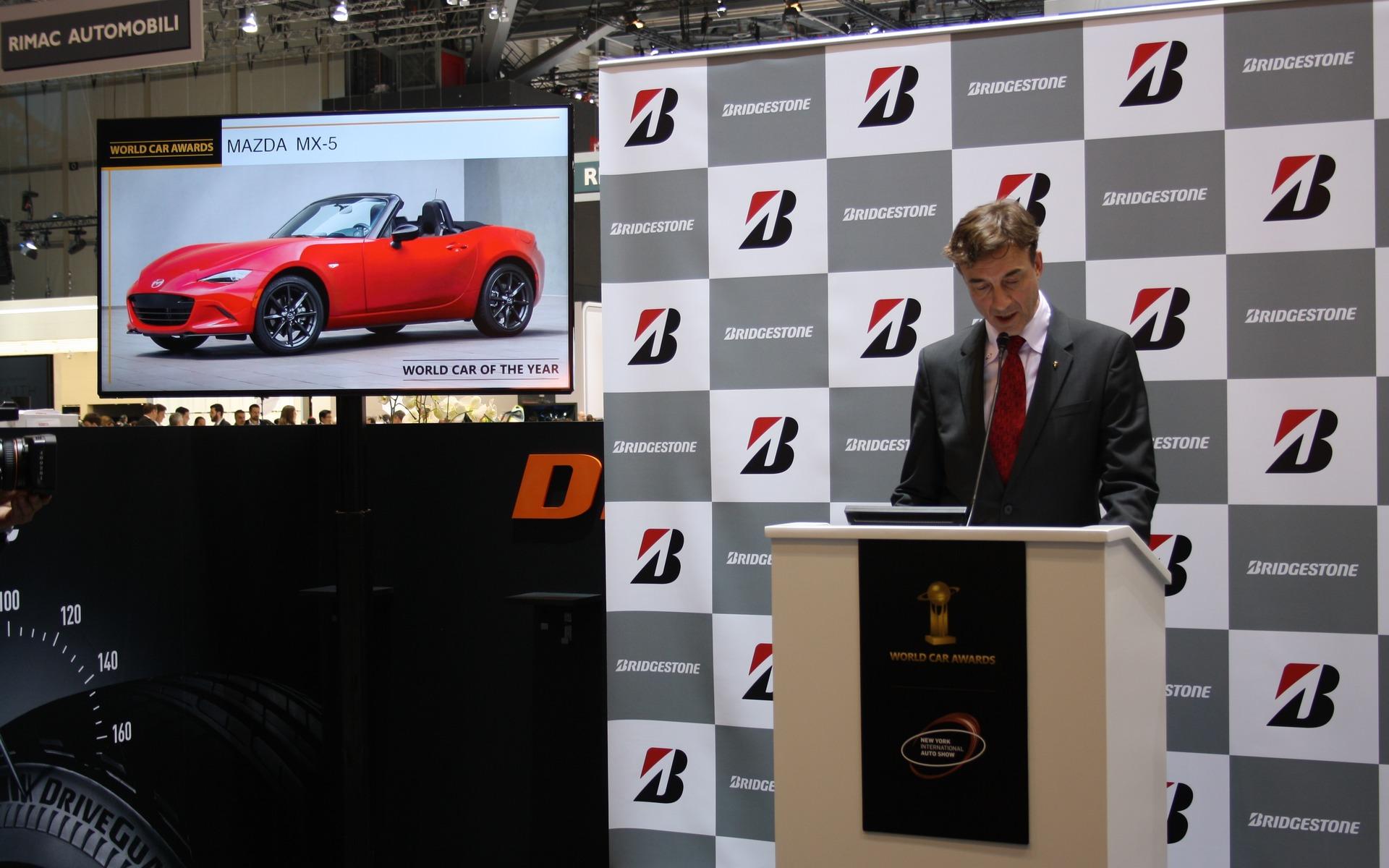 Finaliste pour le Prix de la voiture mondiale de l'année 2016 : Mazda MX-5