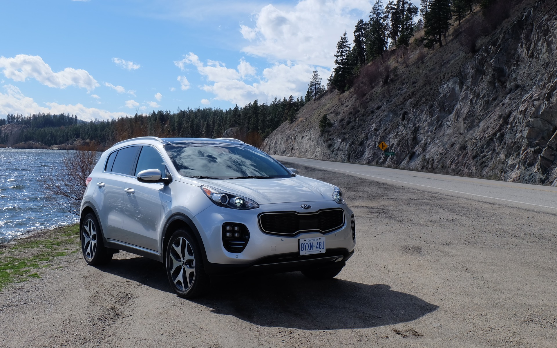The 2017 Kia Sportage, pictured here in its SX version.