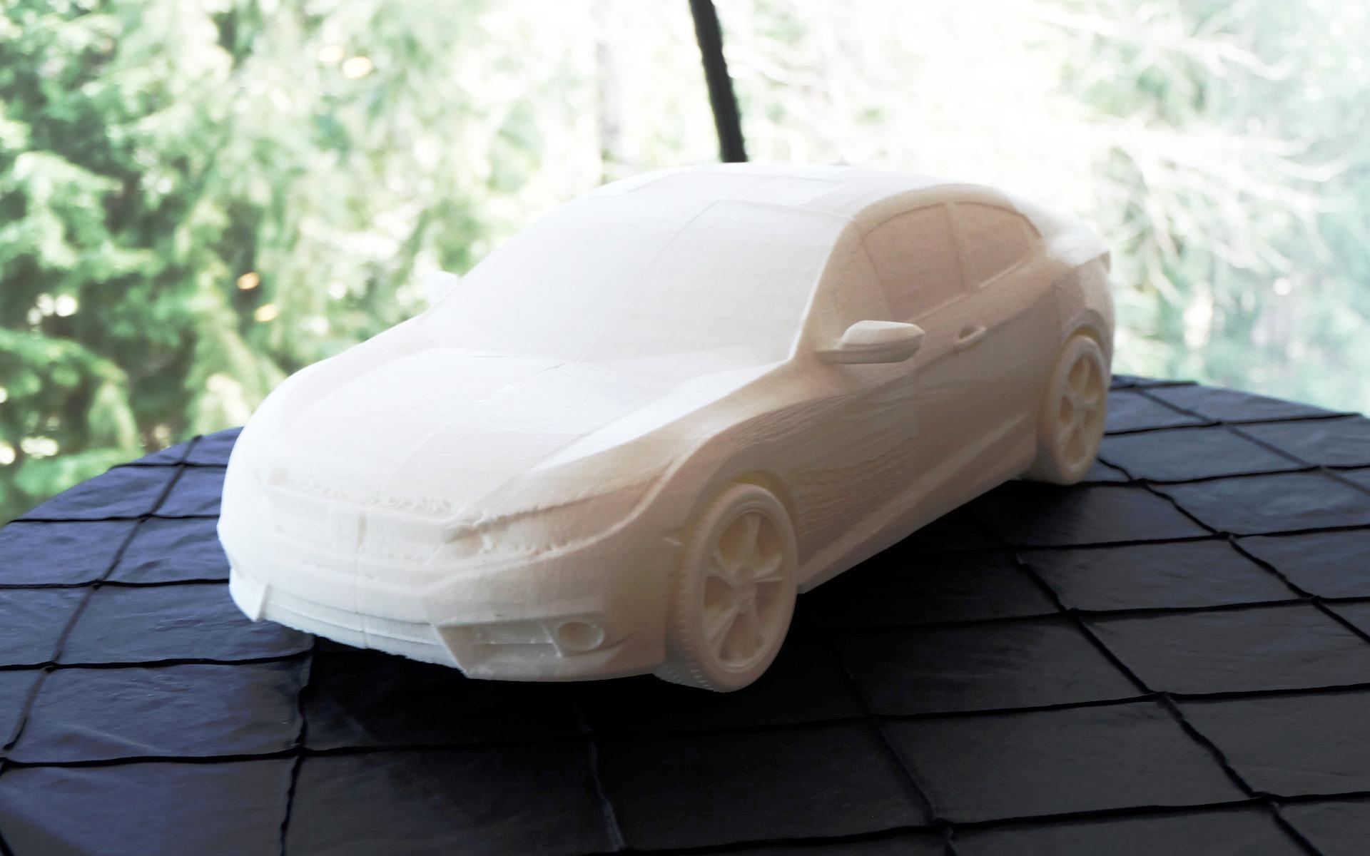 Un modèle réduit imprimé en trois dimensions.