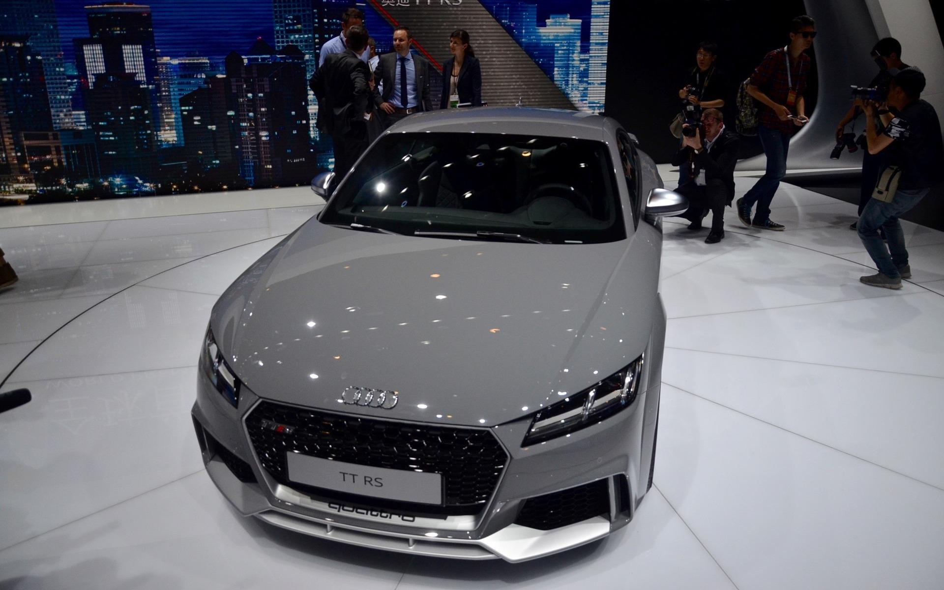Audi TT RS - Dévoilement au Salon de l'auto de Beijing 2016.