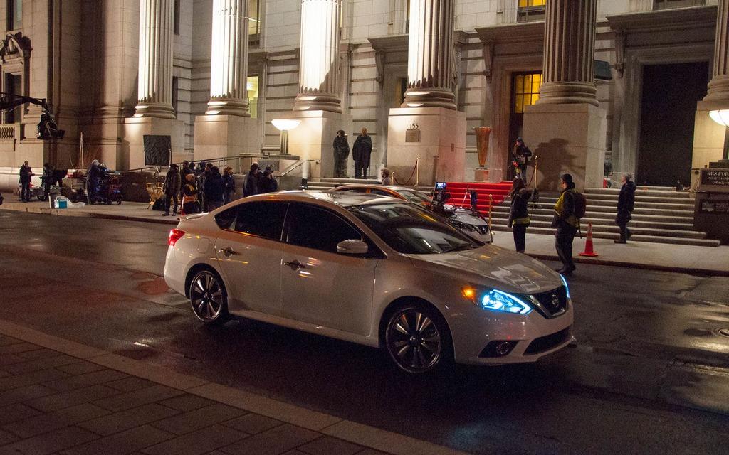 Tournage publicitaire de la Nissan Sentra 2016