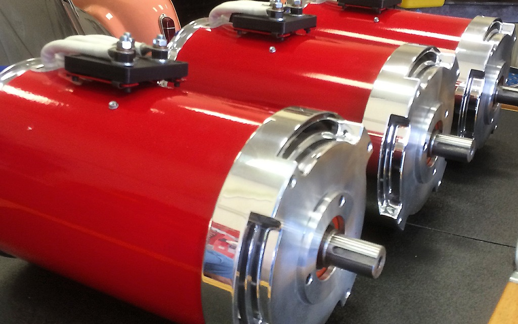The electric motors produce 415 horsepower and 330 pound-feet of torque.