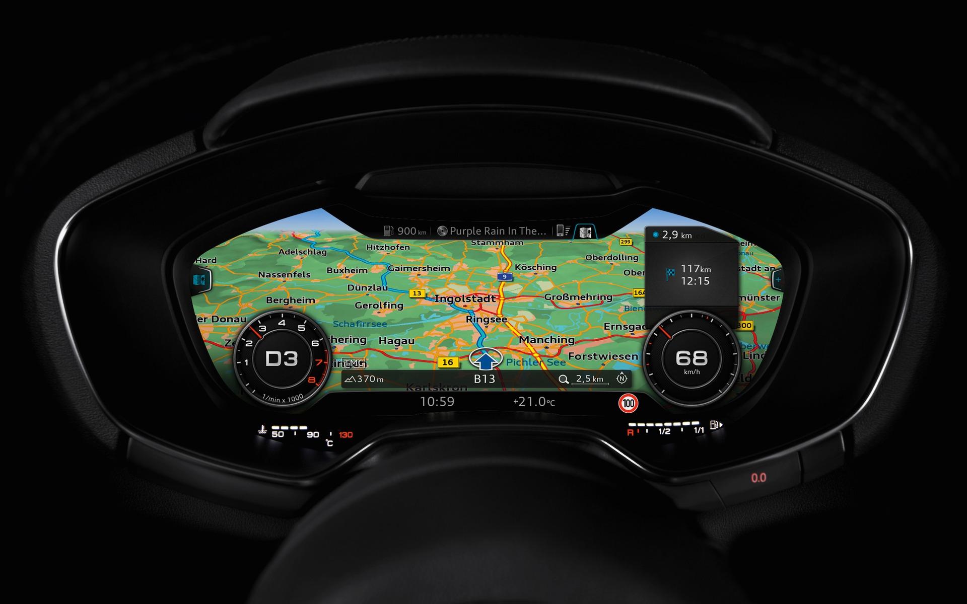 Certains affichages du Audi virtual cockpit sont impressionnants.