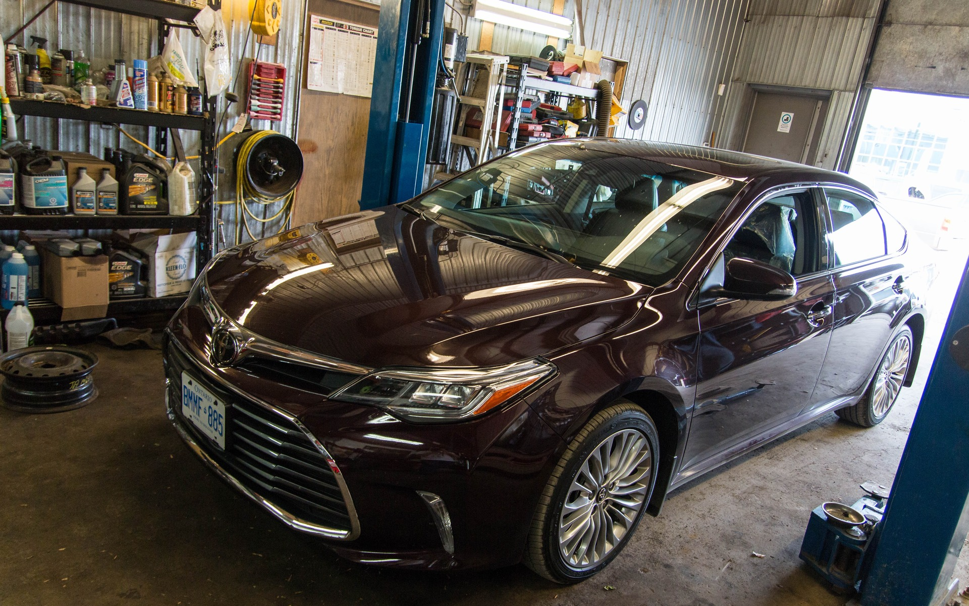 The 2016 Toyota Avalon, ready for inspection.